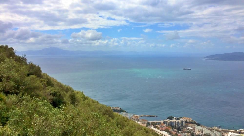 Blick von Gibraltar nach Afrika während des Landausflug Gibraltar auf eigene Faust