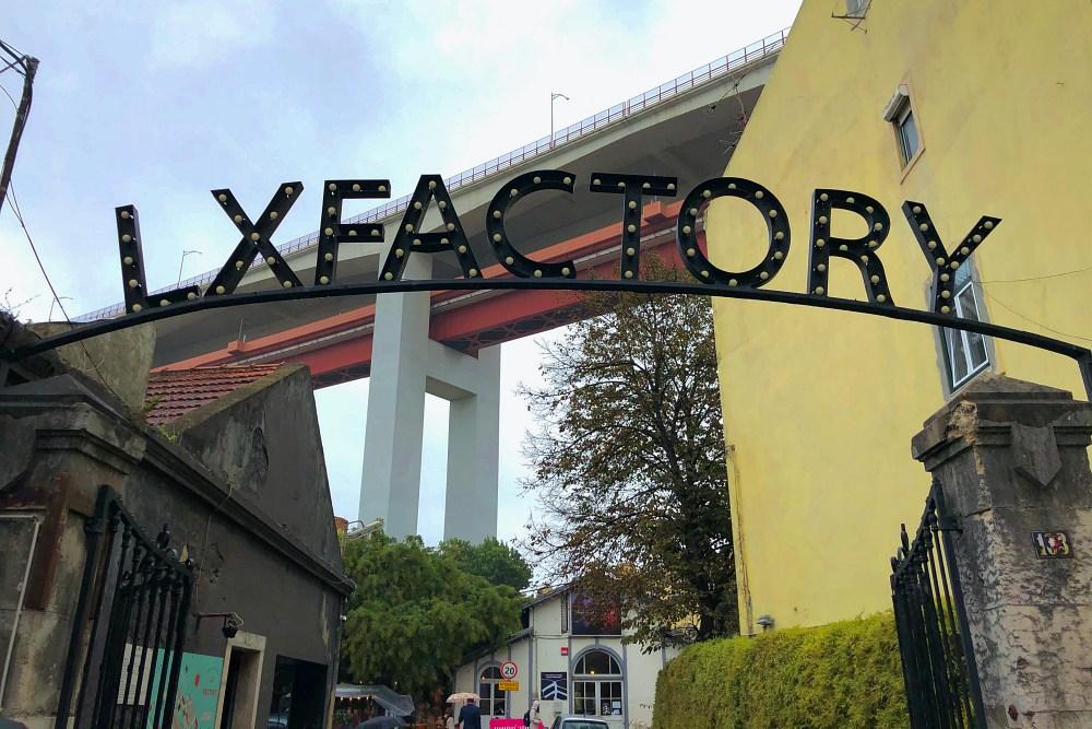 Eingang zur LX Factory Lissabon