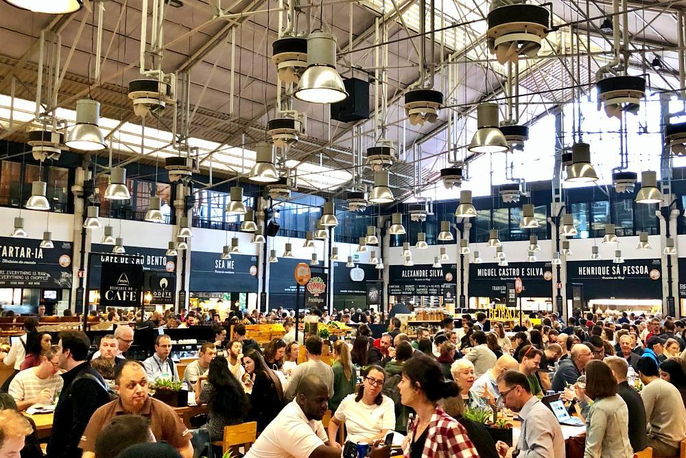 Mercado da Ribeira während des Tagesausflug Lissabon auf eigene Faust