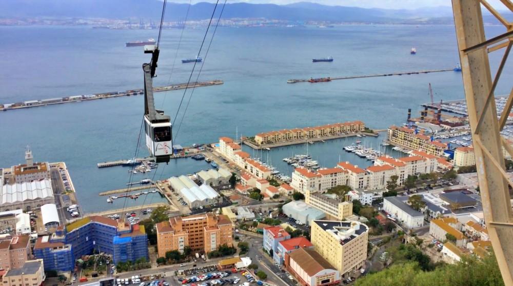 Seilbahn Cable Car in Gibraltar