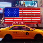 Taxi in New York am Times Square