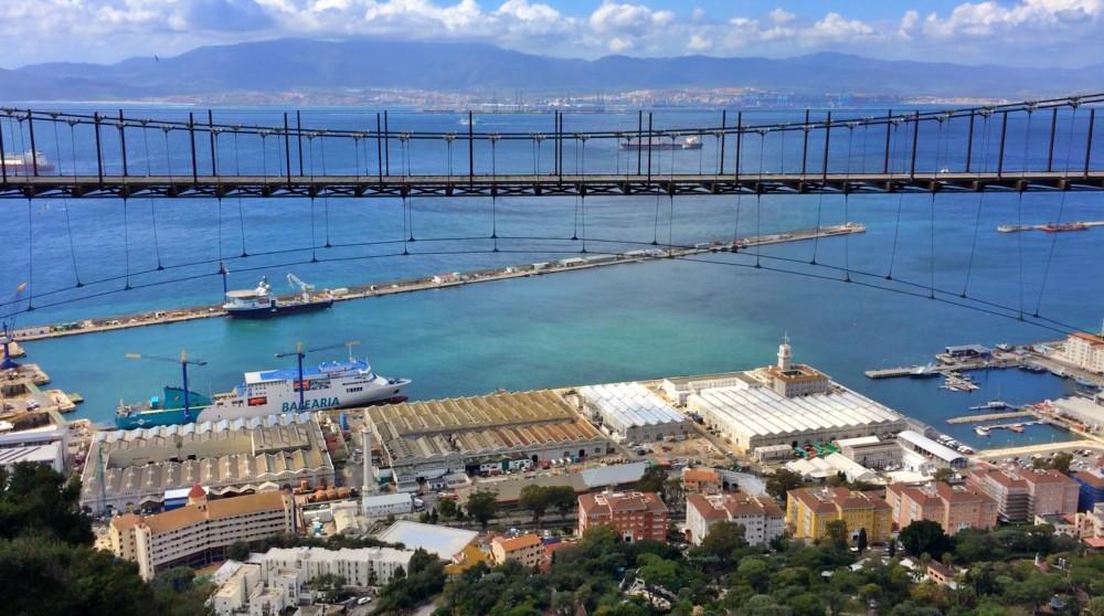 Windsor Suspension Bridge über Gibraltar während des Landausflug Gibraltar auf eigene Faust