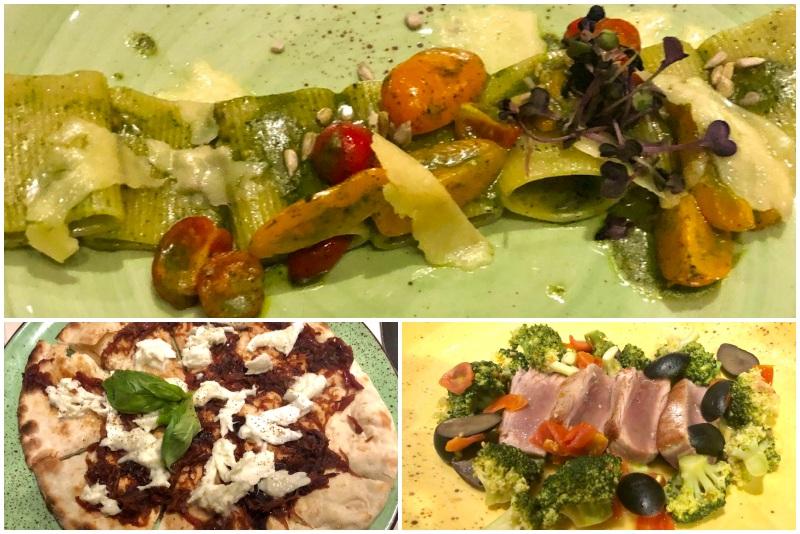 Speisenauswahl im La Spezia auf der Mein Schiff 4