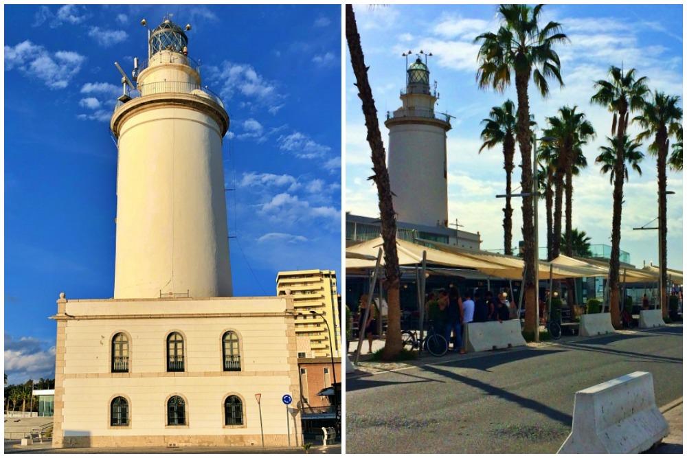 Leuchtturm La Farola Malaga