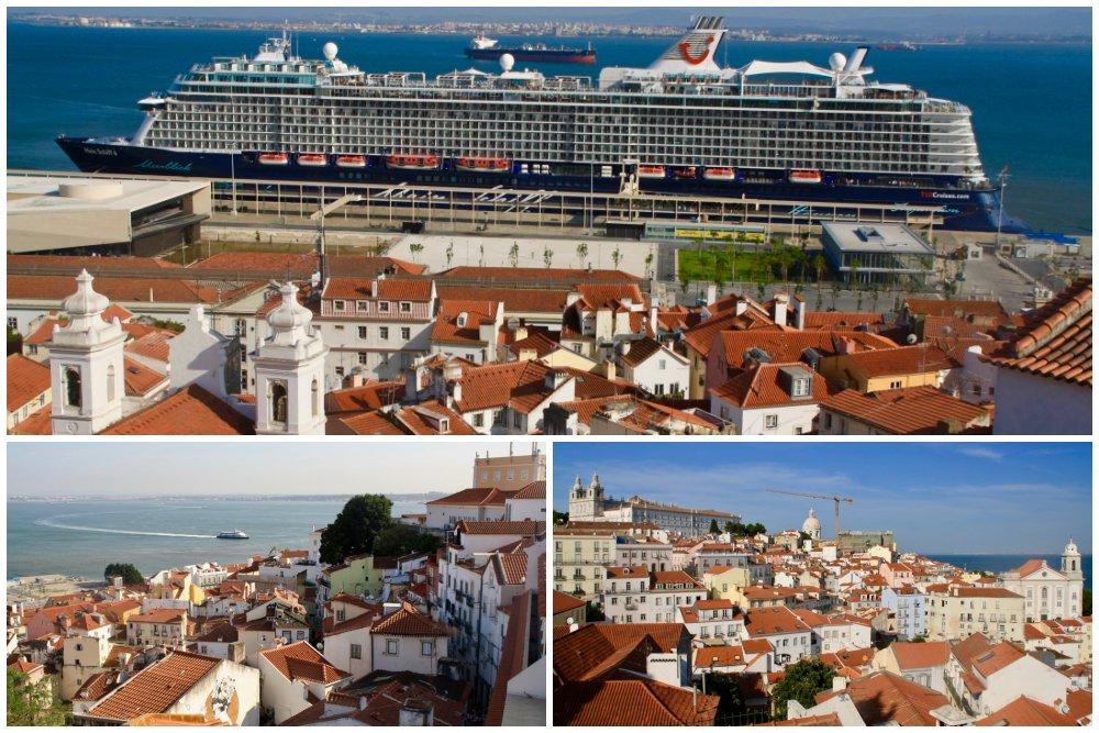 Blick vom Miradouro de Santa Luzia beim Tagesausflug Lissabon auf eigene Faust