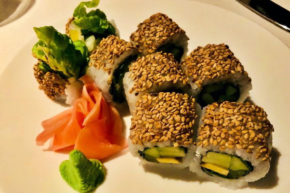 vegetarisches Sushi im Hanami auf der Mein Schiff 6