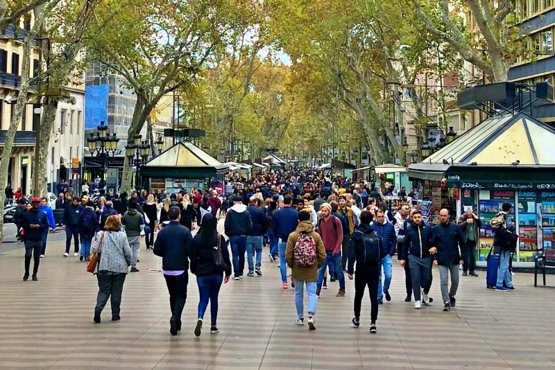 La Rambla beim Landausflug Barcelona auf eigene Faust