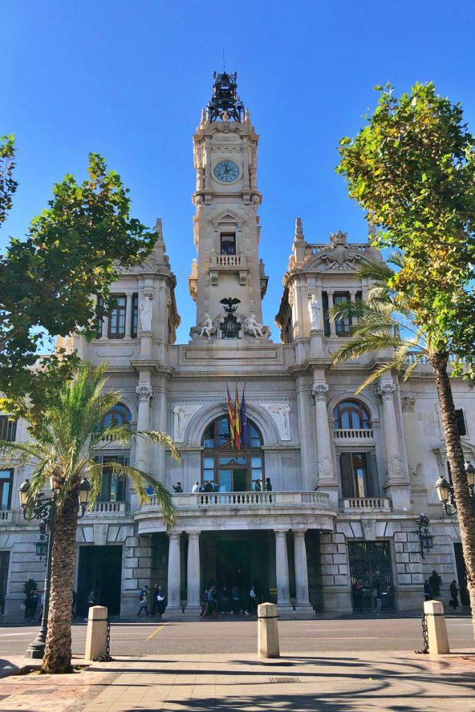 Rathaus von Valencia während unseres Tagesausflug Valencia auf eigene Faust