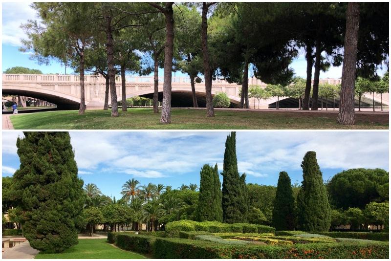 Jardin del Turia während unseres Tagesausflug Valencia auf eigenen Faust
