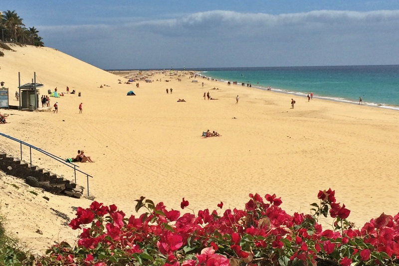 Strand bei Morro Jable auf Jandia beim Landausflug Fuerteventura auf eigene Faust