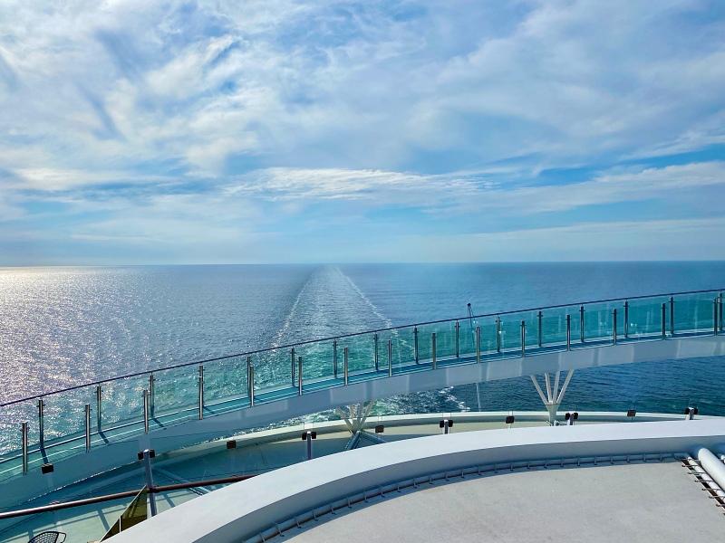 Ausblick Hohe Luft Bar der Mein Schiff 1 Blaue Reise