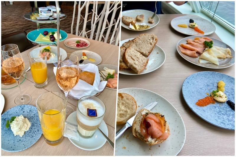 Frühstück in der X-Lounge an Bord der Mein Schiff 1