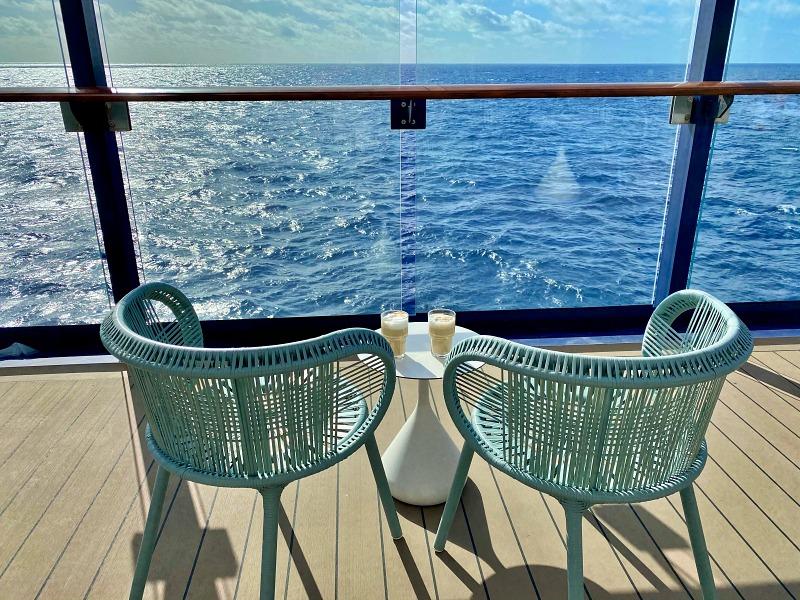 Auf Deck 5 der Mein Schiff 2 während der Kreuzfahrt Blaue Reise Kanarische Inseln